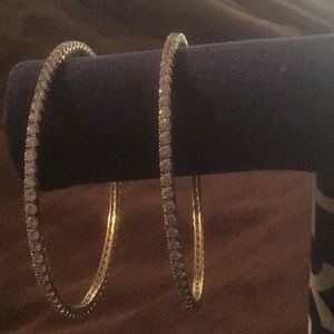 A SET OF 2 GORGEOUS STER. SILVER STAMPED BRACELETS